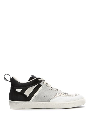 Leather Crown Sneakers Beyaz